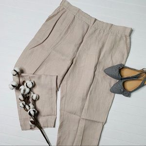Symple NYC Natural Ivory Wide Leg Loose Pants